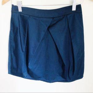 J. Crew Lunette mini skirt navy bubble cotton